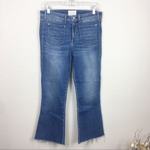 McGuire Flare Raw Hem Jeans